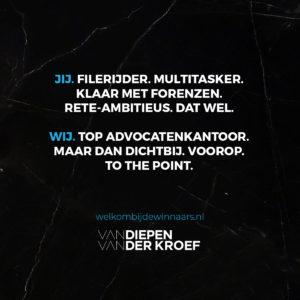 Vacature Advocaat Van Diepen Alkmaar